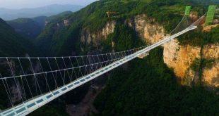 Zhangjiajie maior ponte de vidro