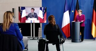 Macron e Merkle pedem reabertura das fronteiras