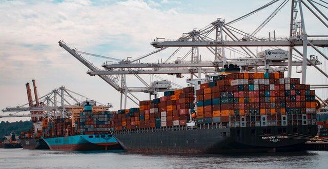 Exportação de bens INE AEP navio cargas economia