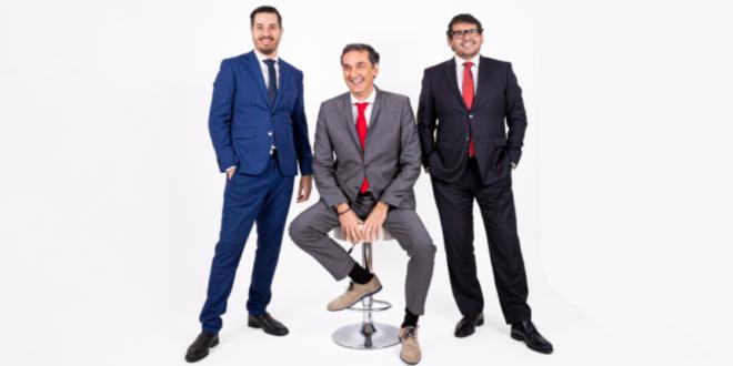 Marco Santos, CEO da Fin-Prisma, Paulo Veiga, CEO do Grupo EAD, Luís Bravo, CEO da Papiro